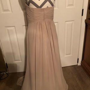 Bridesmaid floor length dress